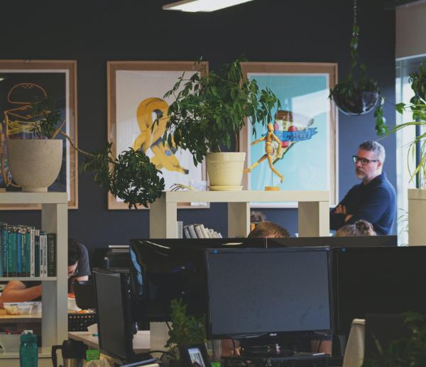 interior of a digital agency office