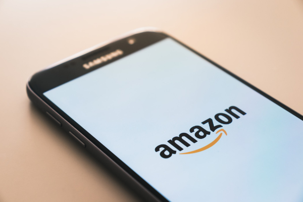 Amazon logo being displayed on a phone